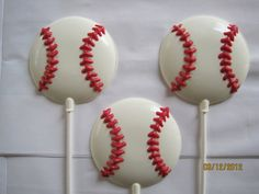 lets play ball baseball chocolate lollipops by strzgoodies on Etsy, $18.00