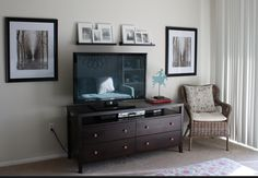 Tv stand and wall decor