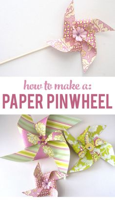 Paper pinwheels make great party decorations, and they're simple to assemble! All you need is a paper trimmer, double sided patterned cardstock, decorative brads, a hot glue gun, hole punch, and bamboo sticks or paper straws. Have fun choosing the colors and patterns of your paper. Depending on your selection, these pinwheels could be used for Valentine's Day, a bridal shower, or a birthday party. Endless possibilities! Read on as eBay shares the easy step-by-step instructions.