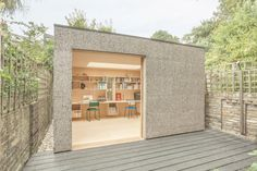Surman Weston builds cork-covered studio for sewing and music-making