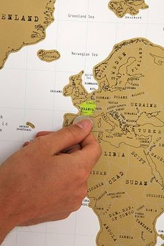 Scratch Off World Map: for someone who likes to travel and scratch out destinations they have visited.