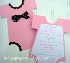 Homemade baby shower invtiations made simple.