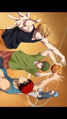 Aomine Kuroko, Midorima Shintarou, Kise Ryouta, Kuroko No Basket, Cute Anime Boy, Anime Guys, Anime Manga, Anime Art, Hiro Big Hero 6