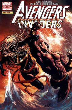 Avengers/Invaders # 5 (Variant) by Mike Deodato Jr.