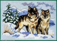 Dimensions Counted #crossstitch A Pair of Wolves #DIY #crafts #decor #needlework #crossstitching #gift