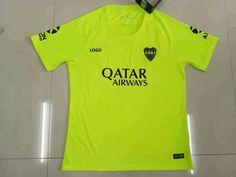 9d1275779 18-19 Thai Quality With Logo Boca 3rd Away Green Soccer Jersey Men Football  Shirt