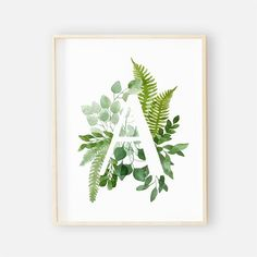 When decorating your sweet baby girl or boys earthy nursery you will definitely want this print! You can personalize it with your baby's initial. Quick and easy