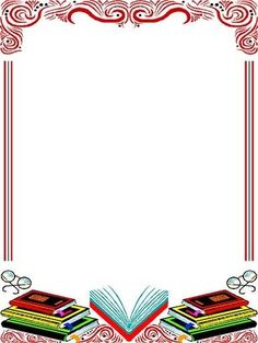Boarder Designs, Page Borders Design, Borders For Paper, Borders And Frames, Borders Free, School Border, Book And Frame, School Frame, Renz
