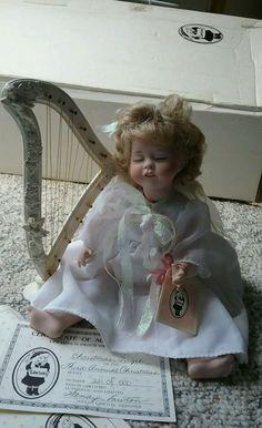 Wendy Lawton Doll Christmas Angel 3rd Annual Christmas 1990 original box COA Tag #WendyLawton #DollswithClothingAccessories