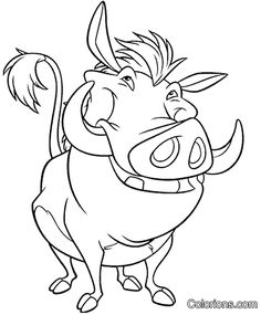 Disney Pumba Character Lion King Coloring Pages Lion Coloring Pages, Disney Coloring Pages, Coloring Books, Disney Drawings, Cartoon Drawings, Animal Drawings, Drawing Disney, Disney Images, Disney Art