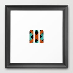 M Crisscross Framed Art Print by Matt Irving - $37.00