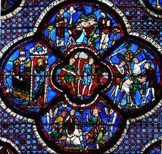 Description Chartres - Vitrail de la Parabole du bon samaritain-2.jpg