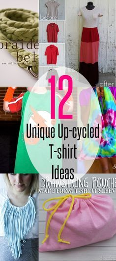 12 unique upcycled T-shirt ideas | refashion | t-shirt necklace | t-shirt bags