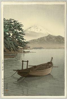 Kawase Hasui: Mt.Fuji Seen from Nagahama - 1937