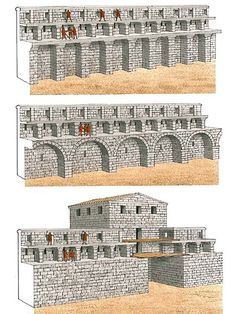 """The curtains at Side""   The fortifications at Side, which possibly date froma little later than those at Perge, were constructed with the same observance of the latter's main principle – to provide formaximum firepower. In Side, however, the architect was a creative professional: he devised three complex versions of the curtain, thus succeeding in obtaining an additional increase in their firepower"