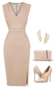 """Nude professional"" by dnmccoy1114 on Polyvore featuring Jennifer Zeuner, Givenchy, Massimo Matteo and Oasis"