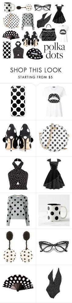 """Polka Dots"" by bookworm1445 on Polyvore featuring Markus Lupfer, Dolce&Gabbana, Oscar de la Renta and Bill Blass"