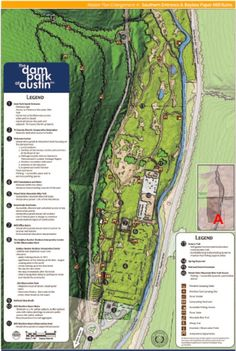 Map enlargement of the Master Site Plan for the southern end of the Dam Park at Austin!