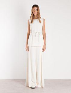 ART.365 trousers, wool white - Marella