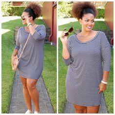 Weekend Wear $36 www.pinkslateboutique.com Shirt Dress, T Shirt, Weekend Wear, Curvy, Collection, Casual, How To Wear, Dresses, Fashion