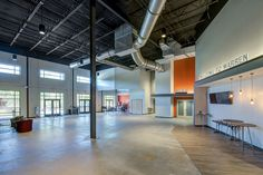 Warren Baptist Church Grovetown Campus Lobby - Augusta, GA (designed by a partner at Equip Studio while at a previous firm).