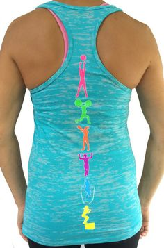 Fitness Moves CrossFit Tank in Teal.