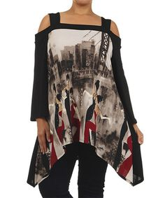 Love this! Picking up now! Take+a+look+at+this+Black+City+Sidetail+Tunic+-+Plus+on+zulily+today!