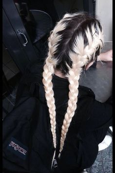 two french braids tumblr - Google Search