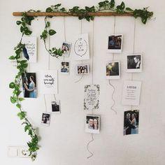 I really want to make this in my new room!- Ik wil dit heel graag maken in mijn nieuwe kamer! Dit ziet er super leuk uit:) I really want to make this in my new room! This looks super nice :] - Decoration Photo, Decoration Bedroom, Decor Room, Room Decorations, Diy Wall Decor For Bedroom, Travel Room Decor, Polaroid Decoration, Floral Bedroom Decor, Boho Bedroom Diy