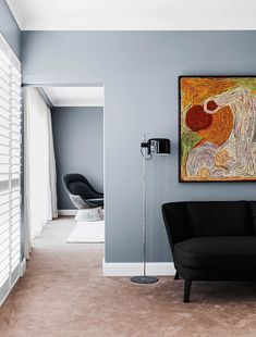 Faced with a blank canvas, interior designers Arent & Pyke focused on creating a personality for this contemporary home in Sydney. Take a look inside! Home Wall Painting, House Wall, House On A Hill, Grey Walls, Soft Furnishings, Home Renovation, Life Is Beautiful, Blank Canvas, Living Spaces