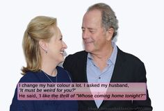 """I change my hair colour a lot. I asked my husband, 'It must be weird for you?' He said, 'I like the thrill of """"Whose coming home tonight?'"""" #MerylStreep #inherownwords #quotes"""