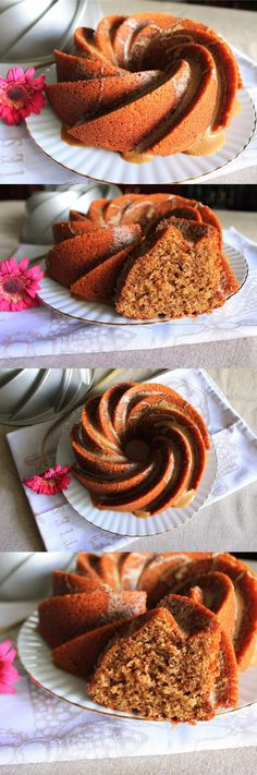 bundt cake de café, bizcocho, receta, glaseado, recipe, cafe