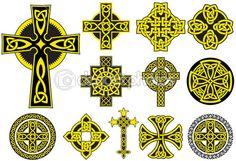 Полное кельтский крест — Векторная картинка #2410813