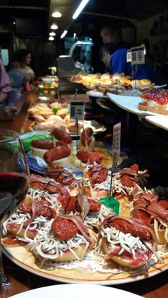 Pintxos - San Sebastian these are the BEST tapas you will eat anywhere in the world.