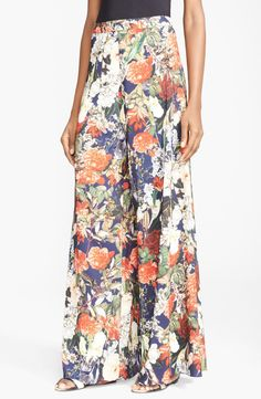 Alice + Olivia Print Wide Leg Pants available at #Nordstrom
