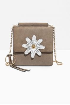 100c07f44f1d2 Beige Suede mini crossbody from   Other Stories. Leather Crossbody Bag