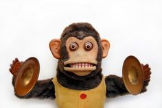 Photo about Vintage mechanical monkey toy with cymbals. Image of monkey, antique, face - 2852857 Haunted Carnival, Toy Monkey, Monkey Tattoos, Clowning Around, Comic, Monkey Business, Creepy Dolls, New Memes, Creative Thinking