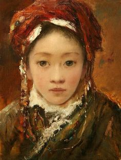 tang wei min paintings   Tang Wei Min (1971, Chinese)   I AM A CHILD