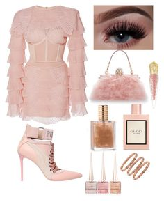"""OH SO PINK 🎀"" by serenadarwiche on Polyvore featuring Balmain, Puma, Christian Louboutin, Dolce&Gabbana and Gucci"