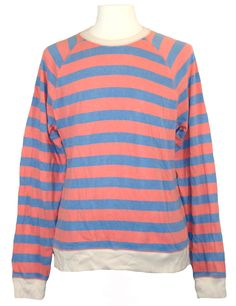 lucky brand long sleeve cotton blues solid thermal shirt new lucky brand mens sweatshirt crewneck striped sporty fleece blue light red l