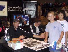 THROWBACK: 9-year-old Katie Ledecky was all smiles while getting Michael Phelps' autograph!