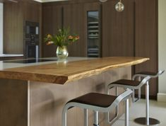 This stunning metallic Copper finish is teamed with an expanse of beautifully grained natural oak for a real statement kitchen. Custom Made Furniture, Storage Solutions, Contemporary, Modern, Dining Bench, Kitchen Design, It Is Finished, Case Study, Wood