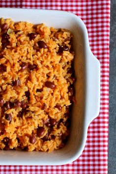 Flavorful Spanish Rice and Beans Rice Recipes, Recipes Dinner, Mexican Food Recipes, Dinner Ideas, Dessert Recipes, Cooking Recipes, Desserts, Spanish Rice And Beans, Spanish Rice Recipe