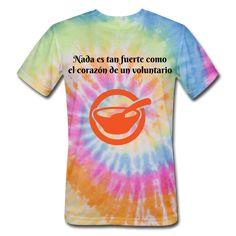 Camiseta Nada es Tan Fuerte como el Corazón de un Voluntario Cool Ties, Tie Dye Patterns, Tie Dye T Shirts, Valencia, Fabric Weights, Lions, Club, 60s Style, Volunteers