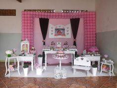 Decoração Provençal Bonecas Rosa e Marrom