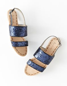 Add sparkle to your step with the Navy Glitter Serrana Sandal! Now only £35.40 in the 40% off sale!