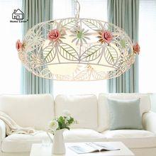 Novas luzes Pingente para Quarto sala de estar sala de Jantar Cozinha Flor Ferro lustres e pendentes de techo lampara colgante moderna(China (Mainland))