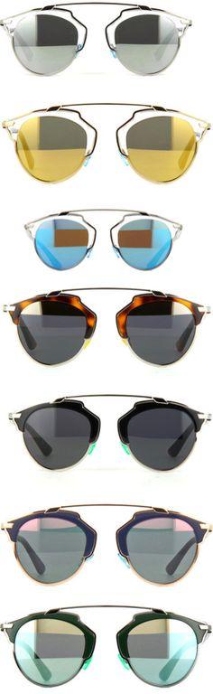 Colección de #gafas de sol con cristales de diferentes coleres So Real de @Dior #eyewear