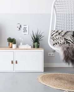 This IKEA PS storage cabinet looks even better without legs.