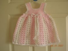 Free Crochet Baby Christmas Dress | Crochet Baby Girl Dress Free Pattern | Grandmas Hope Chest